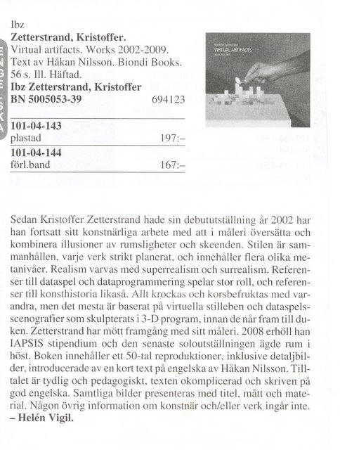 bibliotekstjänst, btj-katalogen. zetterstrand