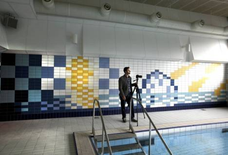 gävle dagblad lillhagsbadet zetterstrand kakelmosaik tile mosaic