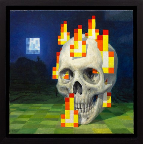 minecraft painting skull on fire zetterstrand