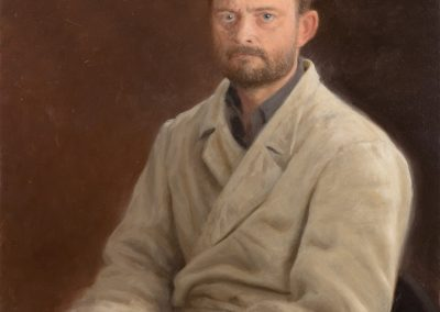 Self Portrait in painter's coat